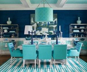 azul, decoracion, and blue image