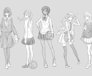 black and white, girl, and kuroko no basket image