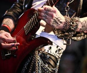guitar, hard rock, and glam image