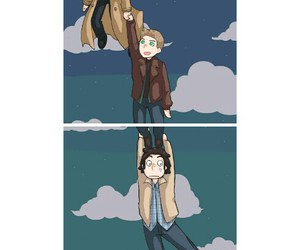 angels, dean winchester, and sam winchester image