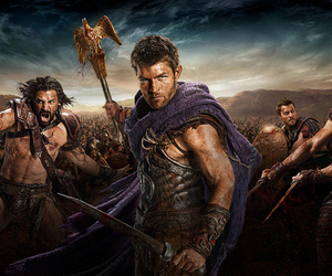 spartacus, agron, and crixus image