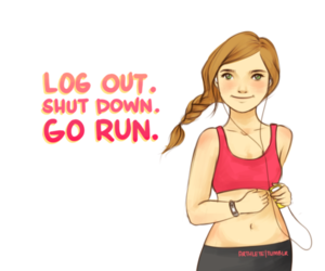 run, fitness, and fit image