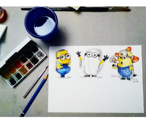 crazy, minions, and draws image