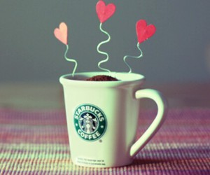 starbucks, coffee, and heart image