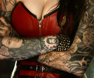 tattoo, girl, and kat von d image