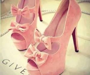 pink, cute, and heels image