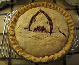 baked goods, baking, and cherry pie image