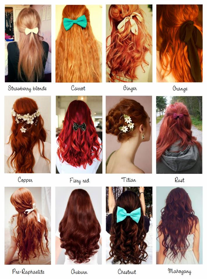 Red Hair Color Names Vocabulary Pinterest