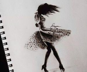 girl, drawing, and art image