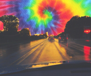 trippy, tie dye, and colorful image