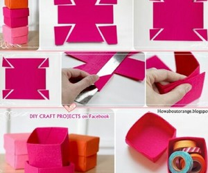 diy, box, and pink image