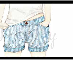 colored, shorts, and nanquim image