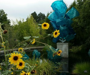 art, teal, and sculpture image