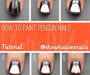nails, penguin, and tutorial image