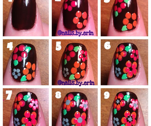 diy, flowers, and nails image