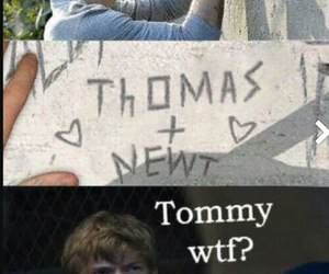 newt, thomas, and wtf image