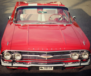 chevrolet, impala, and red car image
