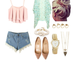 girly, outfit, and shorts image