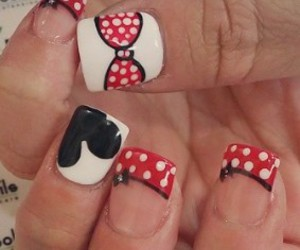 black, mickey, and red image