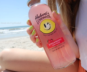 lemonade, beach, and drink image