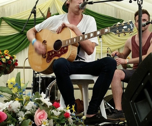 guitar, Jamie Campbell Bower, and singing image