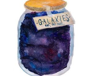 galaxy, jar, and art image