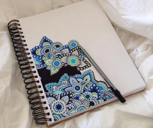 art, blue, and pretty image