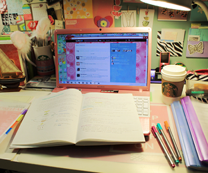 study and notebook image