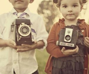 camera, kids, and child image