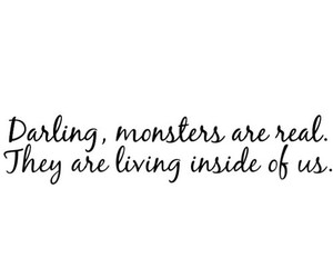 monster, darling, and inside image