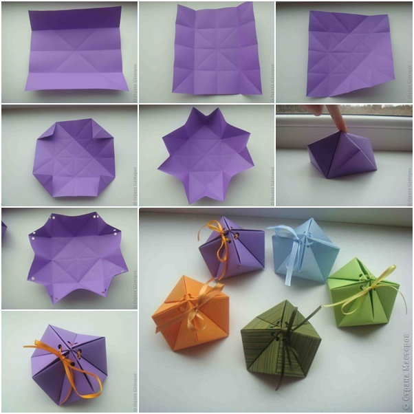 How to diy paper origami gift box fabartdiy mightylinksfo