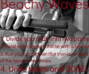cool, hair, and beachy waves image