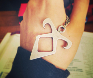 books, neckless, and rune image