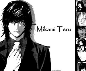 anime, death note, and mikami teru image