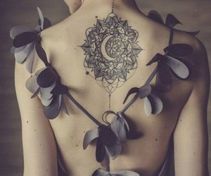 tattoo, moon, and back image