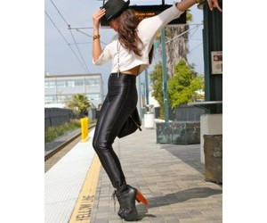 fashion, girl, and rock image