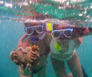 best friends, snorkel, and clams image