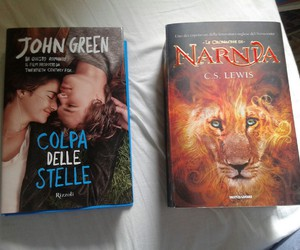 books, john green, and the chronicles of narnia image