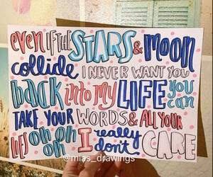 song, Lyrics, and really dont care image