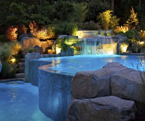 pool, water, and light image