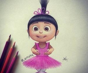 drawing, agnes, and pink image