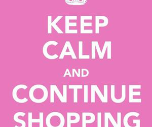 shopping and keep calm and image