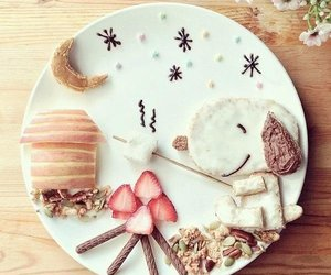 food, snoopy, and strawberry image