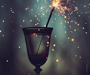 glass,fireworks and night,dark image