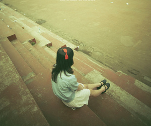 alone, girl, and cute image