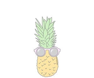 pineapple and sunglasses image