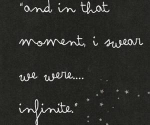 quote, infinite, and stars image