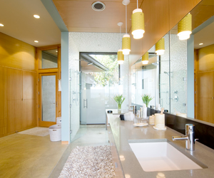 bathrooms, bowls, and furniture image