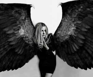 Avril Lavigne, angel, and maleficent image