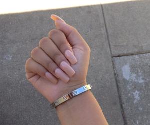 nails, bracelet, and pink image